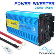 Car-Power-Inverter Sine-Wave AC 3500W/7000W 230V/240V Pure Dual with Led-Display TO Outing/home