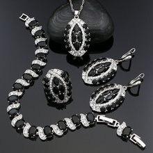 Серебряные Ювелирные наборы 925 в стиле панк для женщин вечерние