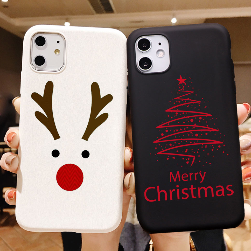 PUNQZY New year art christmas tree phone Case For Samsung S20 PLUS S10 PLUS S9 PLUS S8 PLUS A70 A50 S7 EDGE TPU Silicone COVER image