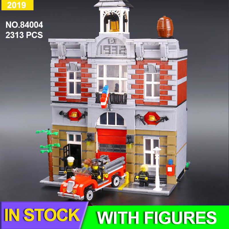 Fire Brigade Station City Architecture Set Compatible Creator <font><b>10197</b></font> Building Blocks Toys for boy girl Birthday Gifts image