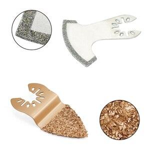 Image 4 - Бесплатная доставка, алмазные и карбидные Осциллирующие многофункциональные пильные диски для шлифовального станка, режущий Реноватор, электроинструменты, аксессуары, безопасность