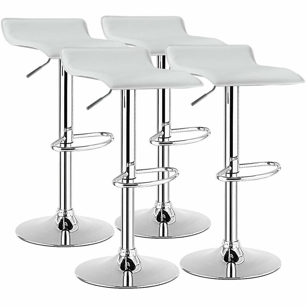 Set of 9 Swivel Bar Stool PU Leather Adjustable Kitchen Counter Chair