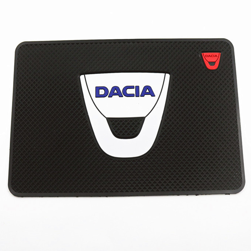Ceyes Car-Styling Non-Slip Anti-Slip Mat Auto Badge Case For Dacia Duster Logan 2 Mcv Sandero Stepway Lodgy Emblems Car Styling