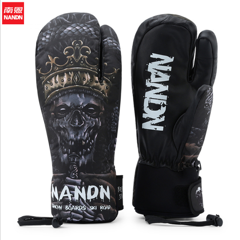 NANDN 2019 Unsex Waterproof Windproof Skiing Gloves Riding Mountain Snowboard Ski Gloves Touch Screen Ski Gloves Freeshiping