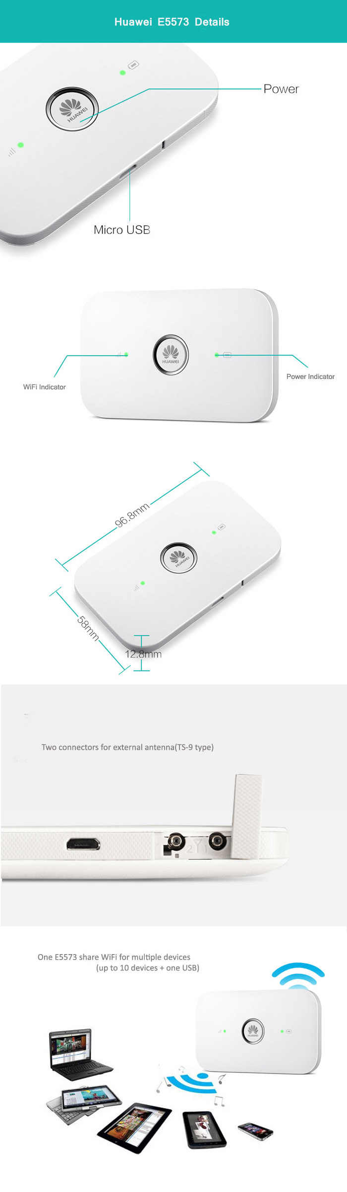 unlocked huawei e5573 4g wifi modem E5573s 606 CAT4 4G LTE WiFi Router Wireless Mobile Wi Fi router 4g sim card with antenna