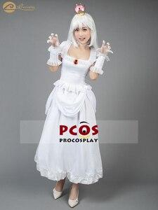 Nouveau Super Mario Bros Mario 64 fantôme Hime robe blanche cosplay costume timide jolie princesse mignonne fantôme Cosplay Costume mp004230