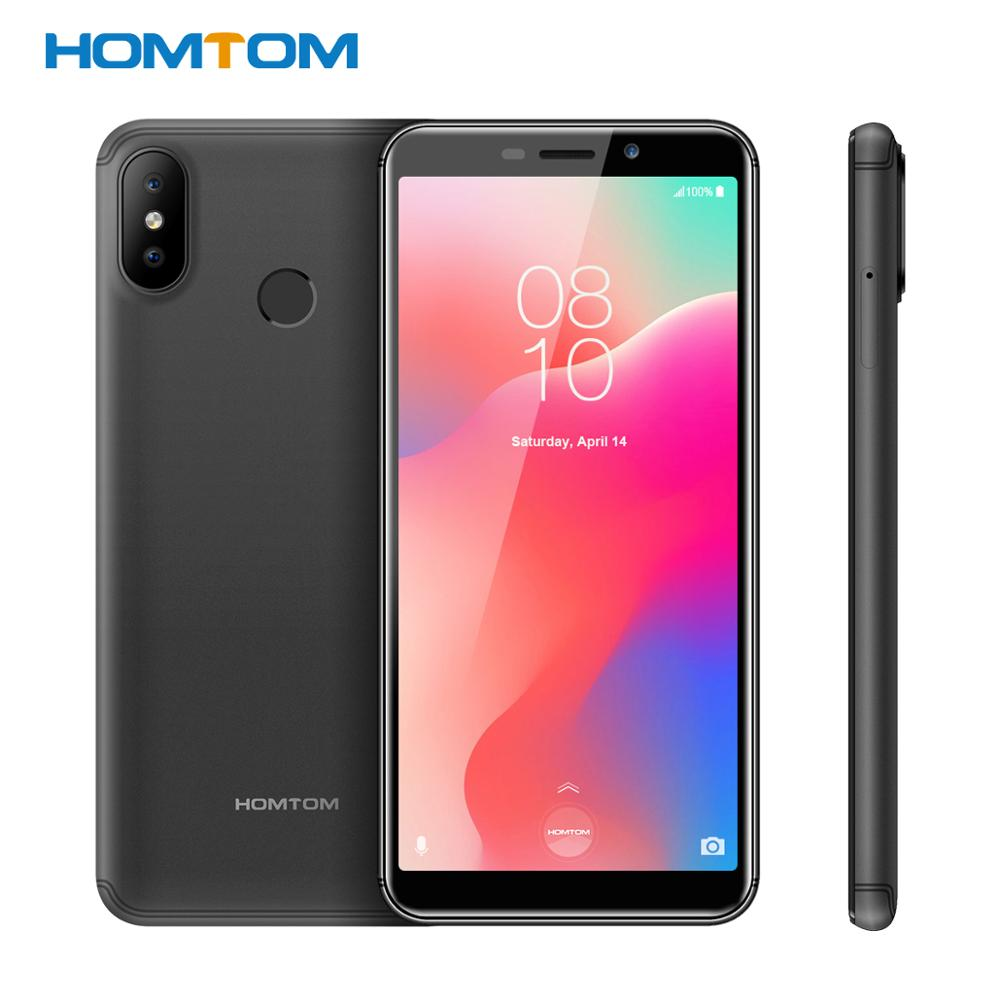 Original HOMTOM C1 16GB ROM Quad Core Mobile Phone Android8.1 5.5 Inch 18:9 Full Display 13MP Rear Camera Smartphone Fingerprint