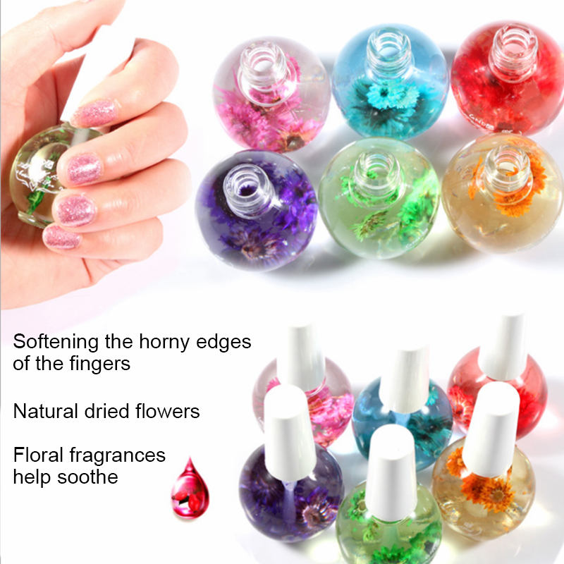 Dried Flowers Softener Cuticle Oil Nutritional Cuticle Oil Nail Care Tools Prevent Agnail Nail Polish Nourish Skin 15ml