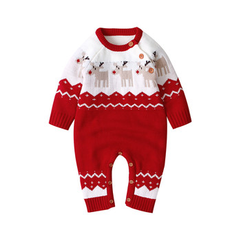 Christmas Baby Clothes Autumn Winter Knitted Baby Deer Romper Newborn Romper Infant Jumpsuit Toddler Girl Romper christmas baby clothes autumn winter knitted baby deer romper newborn romper infant jumpsuit toddler girl romper