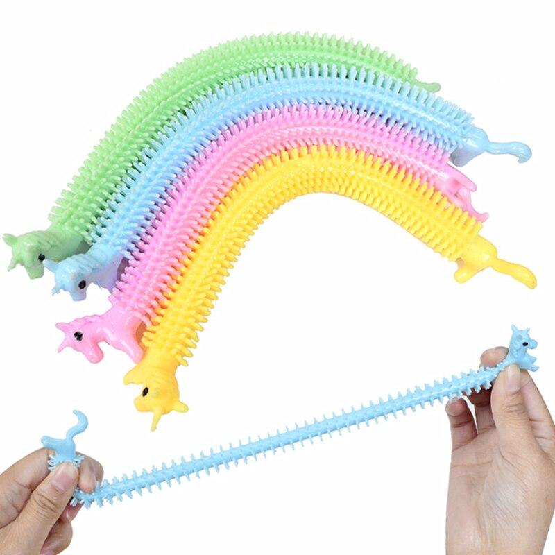 Anti-Stress Toys String Fidget Autism Worm Noodle Random-Color 3pcs Tpr-Rope img5