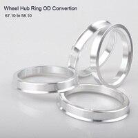 4pcs Wheel Hub Center Rings Aluminum Alloy Centric Hub Ring OD 67.1MM to ID 58.1MM
