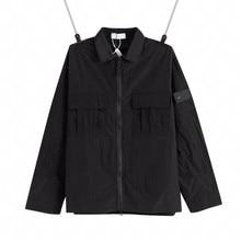 2021 primavera e outono jaqueta masculina metal tecido de náilon à prova dwaterproof água e respirável trabalho feito com ferramentas camisa casual ao ar livre jaqueta de cor sólida