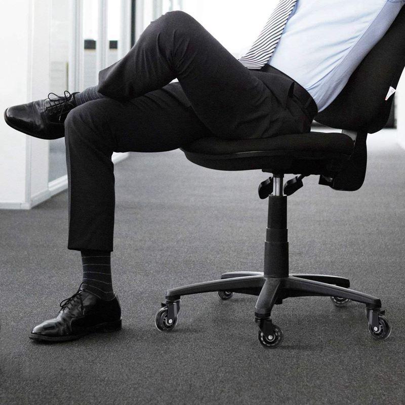 Rodas de cadeira de escritório 5 peças, estilo rollerblade roda castor substituição macio seguro rollers ferragens móveis 2.5 polegadas-5