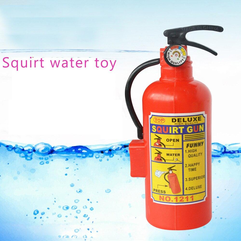 1PCS Simulation Fire Extinguisher Toy Beach  Squirt Water Toy Children Summer Swimming Water Spray Machine Game Toys