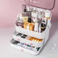 Коробка для макияжа Органайзер для косметики большая емкость с крышкой держатель ювелирных изделий водонепроницаемый и пылезащитный