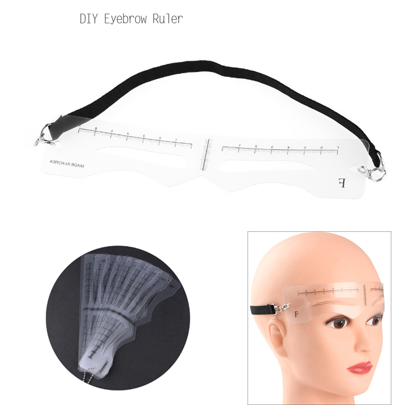 Tattoo Ruler 12pcs/ Set Eyebrow Stencils Reusable Drawing Eyebrow Card Measuring Template Eyebrow Grooming Shaping Eyebrow Ruler