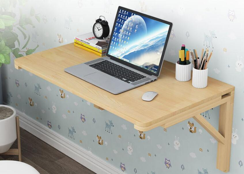 100*50cm Multipurpose Wall-mounted Laptop Desk Hanging Table Wall Folding Table