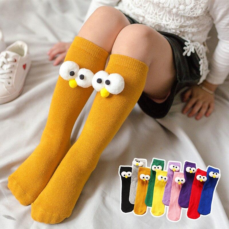 Купить гольфы детские до колен носки для новорожденных девочек хлопковые