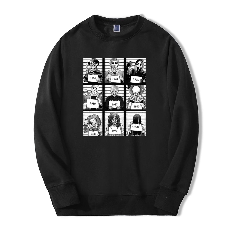 Horror Film The Texas Chainsaw Mas Sweatshirt Hoodies Yamamura Sadako Mens Fleece New Sportswear Fashion Casual Autumn Tracksuit