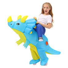 New Kids Inflatable Dinosaur Costume Boys Anime Triceratops Party Cosplay Costume Suit Carnival Halloween costume For Child Girl