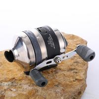 BL35 Carretilhas De Pesca para Uso Dardo Aço Inoxidável Slingshot Tiro Peixe Roda de Metal Fechado Roda Pesca 3.3: 1