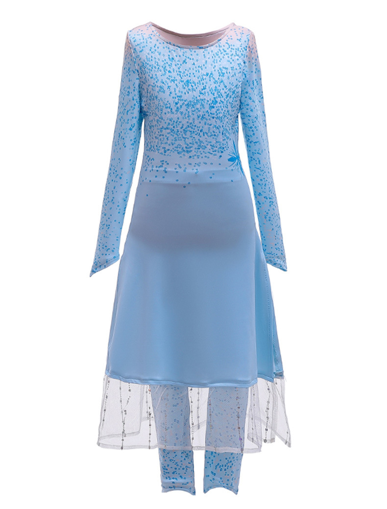 H60ee4423252e46ad8e1aab36a9bae019V Unicorn Dresses For Elsa Costume Carnival Christmas Kids Dresses For Girls Birthday Princess Dress Children Party Dress fantasia