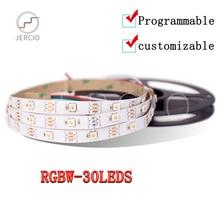 JERCIO RGBW WS2812B SK6812 SM5050 4 IN 1 30LEDS/PIXEL/M LED STRIP LIGHT  ;individually addressable WATERPROOF ip20/65/67 DC5V