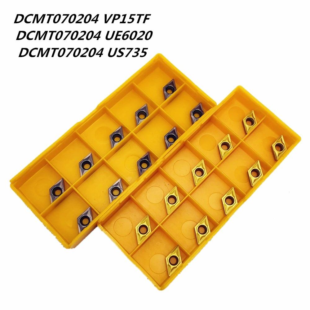 Lathe Tool DCMT070204 VP15TF UE6020 US735 Carbide Tool Metal Turning Tool Milling Machine CNC Tools DCMT 070204 Turning Tool