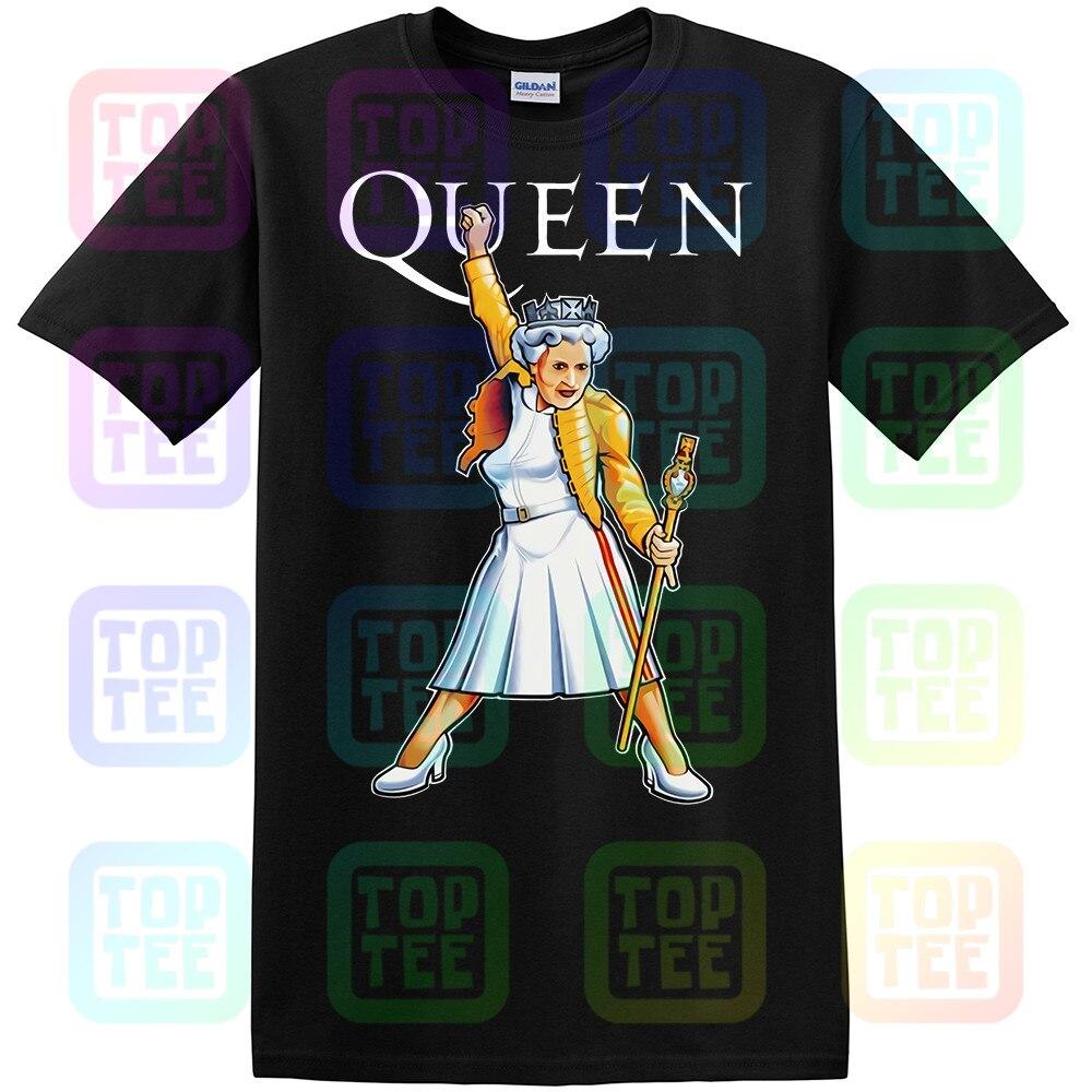 Queen Elizabeth It's A Kind Of Monarch Freddie Mercury Funny Black T-Shirt S-3XL