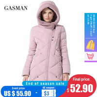 GASMAN 2021 Winter Sammlung Marke Mode Dicke Frauen Winter Bio Unten Jacken Mit Kapuze Frauen Parkas Mäntel Plus Größe 5XL 6XL 1702