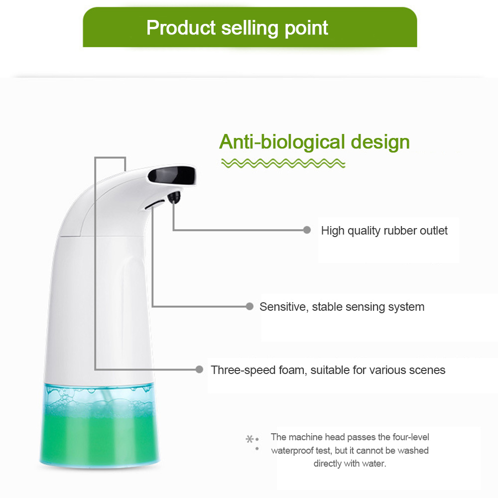 Intelligent Automatic Induction Foam Washing Infrared Sensor Foam Soap Dispenser Kitchen Bathroom accessories