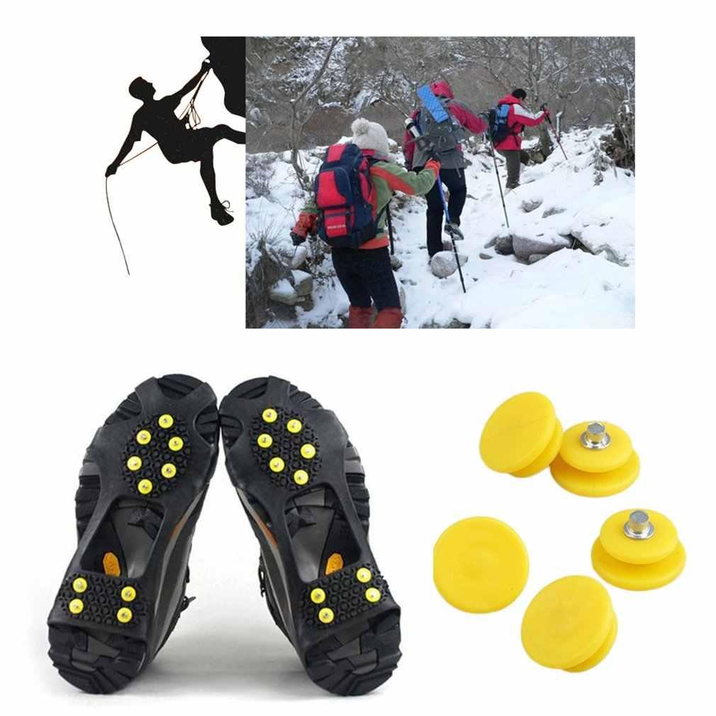 الثلوج حذاء المسامير الجليد المرابط الجليد القابضون المطاط الثلوج حذاء المسامير الأشرطة زوايا صلب المرابط منع في الهواء الطلق الأنشطة