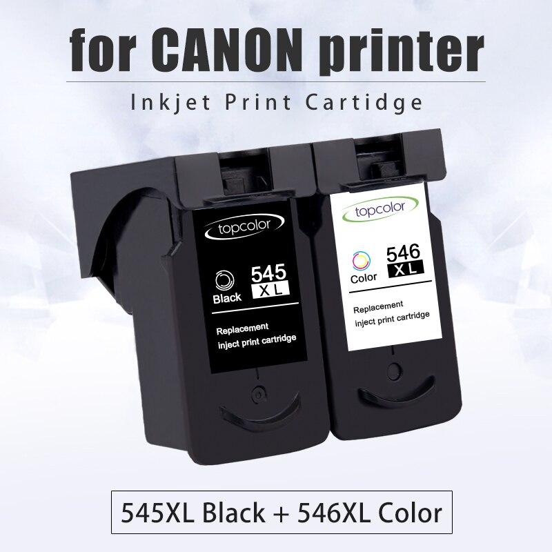 Cartouche d'encre Topcolor PG545 CL546 pour Canon PG 545 CL 546 couleur noire pour imprimante Pixma MX495 TR4550 Ip2850 MG2450 MG2550S 3053