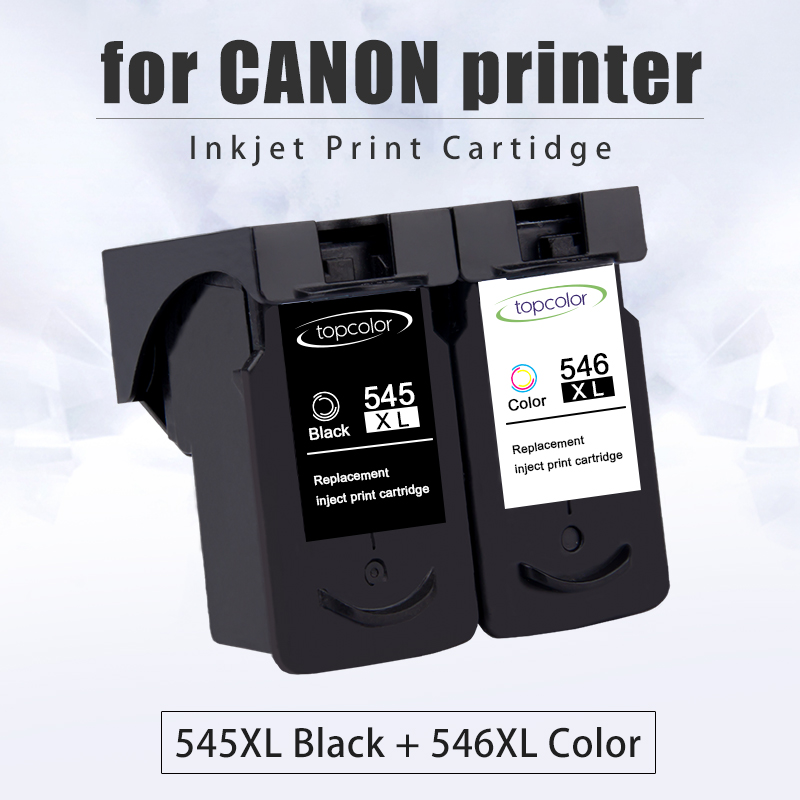 Topcolor Ink Cartridge PG545 CL546 for <font><b>Canon</b></font> PG 545 CL 546 Black Color for Printer Pixma MX495 TR4550 Ip2850 MG2450 MG2550S 3053 image