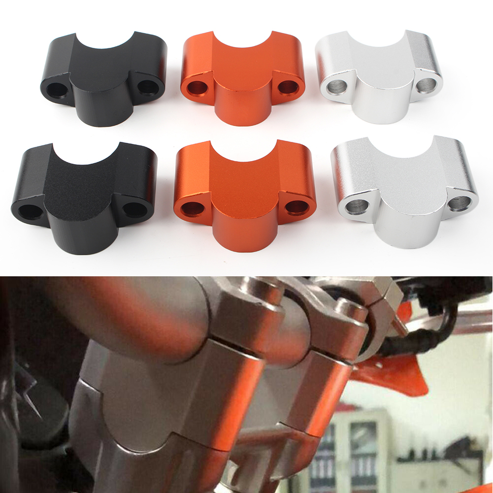 Motorcycle Handlebar Handle Fat Bar Risers Mount Clamp For KTM Duke 125 200 390 2011 2012 2013 2014 2015 2016 image