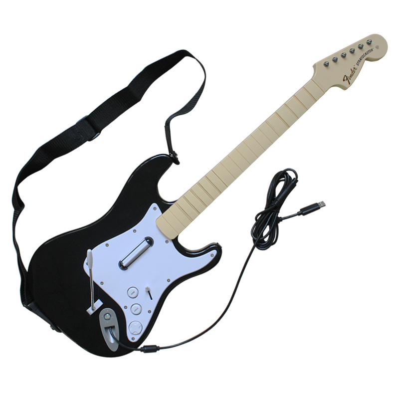 2.8M Wired Guitar With USB Port/Strap Belt For Xbox360 Console/Win 7/XP/Vista OS Guitar Hero/Rock Bands/World Tours Plug & Play