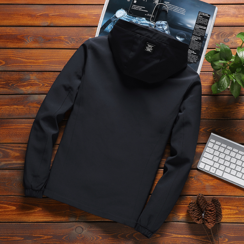 2020 New Brand Jacket Men Zipper Winter Spring Autumn Casual Solid Hooded Jackets Men's Outwear Slim Fit High Quality M-8XL 46 3