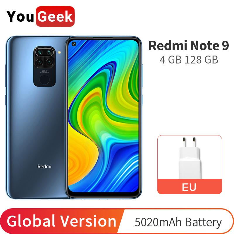 Глобальная версия Xiaomi Redmi Note 9 4 Гб RAM 128 ГБ ROM MTK Helio G85 Octa Core 48MP 6,53
