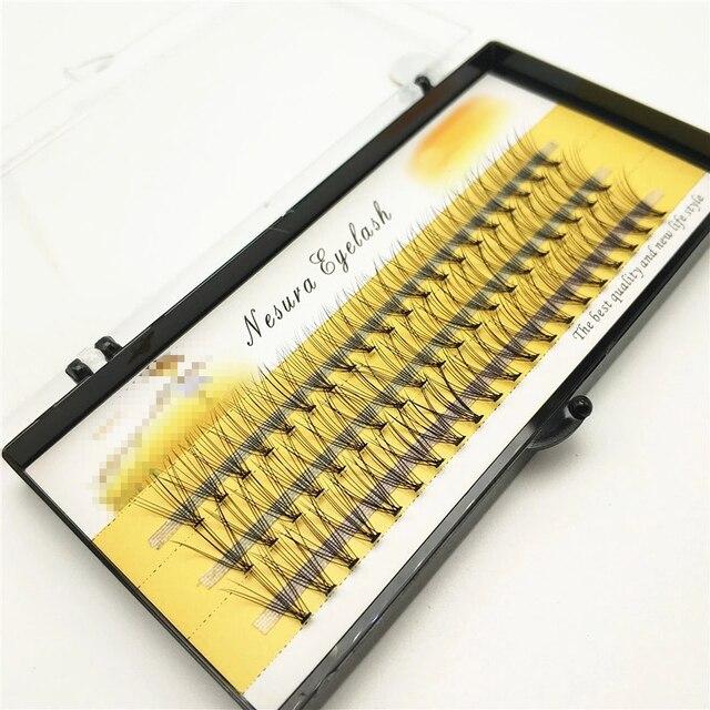 1box big capacity 60 bundles 6d 10D Eyelash Extensions 0.1mm Thickness true Mink Strip Eyelashes Individual Lashes Natural Style 1