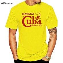 Cuba t camisa do vintage havana bar hotel pub che guevara ernest hemingway camiseta presente de aniversário das mulheres dos homens