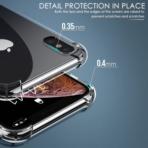 Image 5 - Di Lusso Antiurto Cassa Del Telefono Del Silicone per Iphone 7 8 6 6S Plus X Xs Max Iphone 11 Pro Max Custodie trasparente di Protezione Posteriore Cove