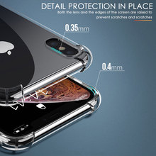 Luxury Shockproof Silicone Phone Case For iPhone 7 8 6 6S Plus X XS Max iphone 11 pro Max Cases Transparent Protection Back Cove