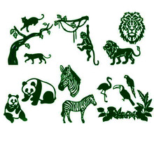 Wild Animals Metal Cutting Dies for Scrapbooking and Cards Making Embossing Craft
