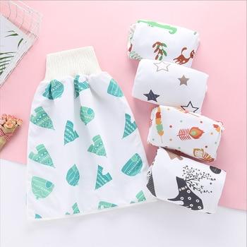 Infant Children Diaper Skirt Washable Childrens Diaper Skirt Shorts 2 in 1 Waterproof and Absorbent Shorts Baby Diaper Skirt