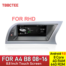 Android 9.0 Eight core 4+64GB Auto Radio For Audi A4 B8 8K 2008~2016 MMI Car Multimedia Player GPS Navigation HD Touch Screen for audi q7 4l 2005 2010 mmi android car radio amplifier gps navigation multimedia player wifi bt navi map hd
