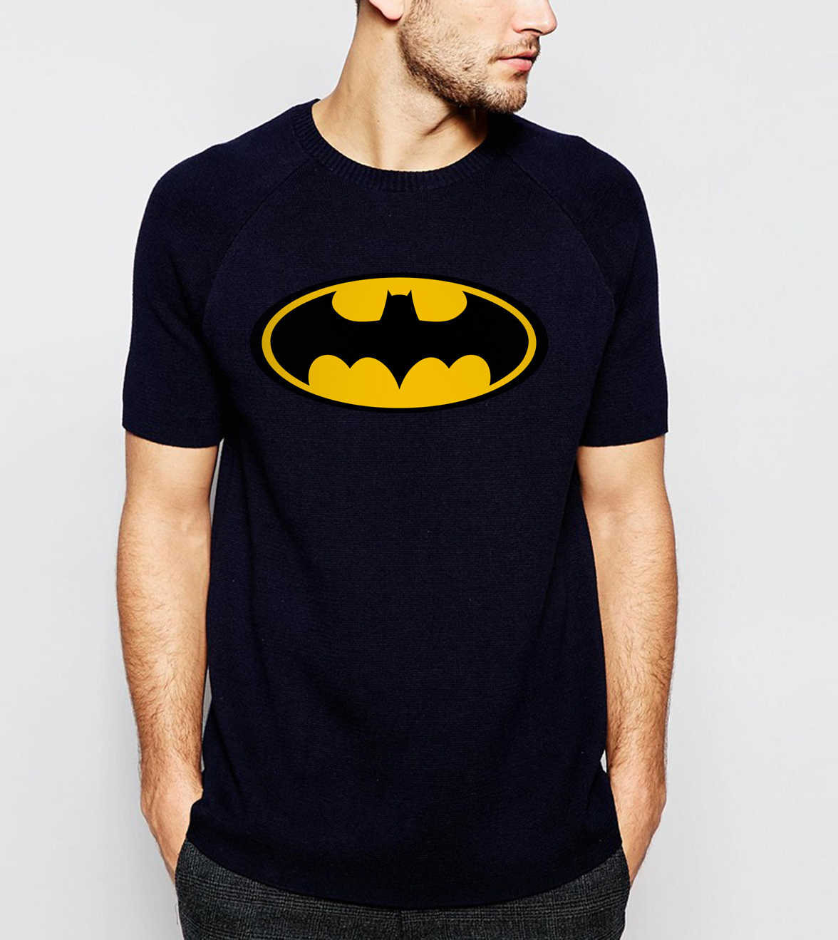 Unisex Heißer Film Bat Mann Logo T-shirt Cartoon Super Hero Männer T-shirt Hip Hop Sommer Kurzarm Marvel 100% baumwolle Muster Tops