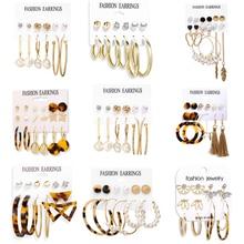 Tassel Earrings Fashion Jewelry Pearl Acrylic Women Cute for Charming-Date Gift Circle