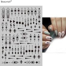 Moda unhas arte manicure volta cola decalque decorações design prego adesivo para unhas dicas beleza