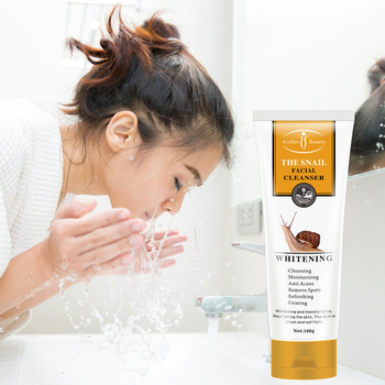 Face Wash Snail Extract Facial Cleanser Oil-control Deep Cleansing Mild Foaming Wash Nourishing Face Cleanser Cosmetics cosrx low ph good morning gel cleanser 150ml face exfoliator facial cleanser original korea cosmetics