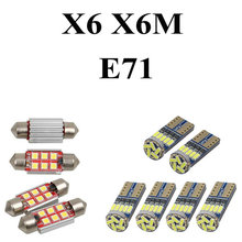 цена на LED Interior Car Lights For Bmw X6 X6M E71 Error free Map Dome Reading Visor Door FootWell Trunk Courtesy 19pc